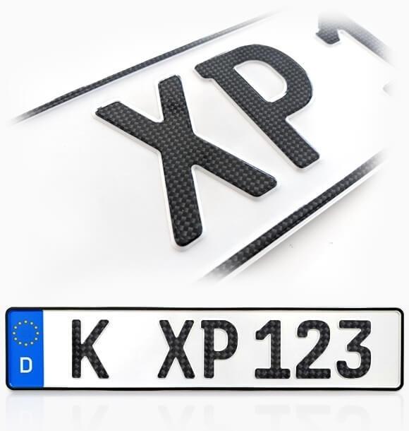 Carbon Autokennzeichen