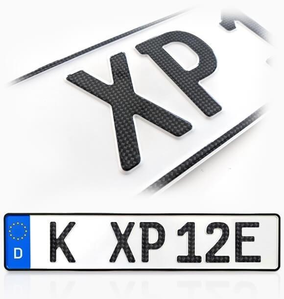 Carbon E-Kennzeichen für Elektrofahrzeuge