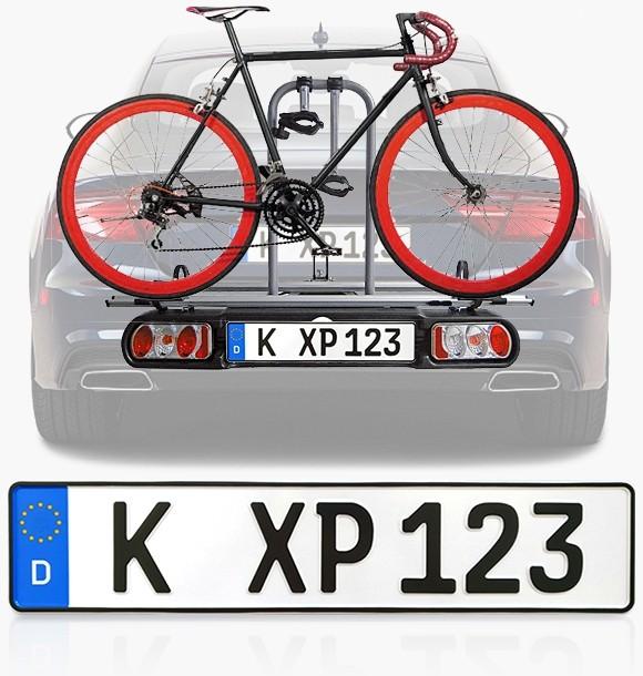 Kennzeichen für Anhänger & Fahrradträger