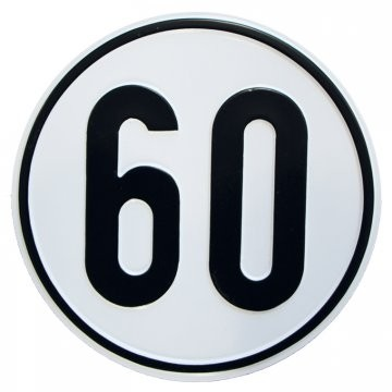 Alu Geschwindigkeitsschild 60 km/h