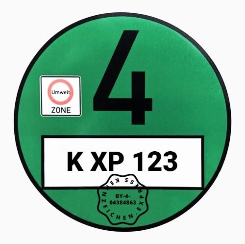 Grüne Umweltplakette / Feinstaubplakette