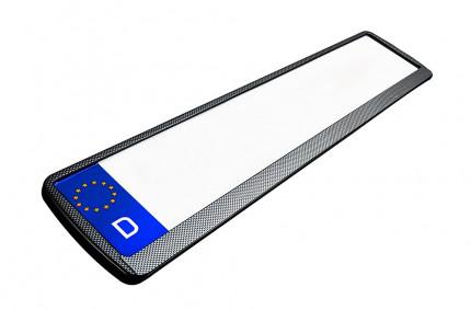 Kennzeichenhalter 520x110 mm Carbon-Look