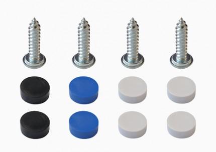 Blechschraubenset zur Montage von Kennzeichen & Kennzeichenhaltern