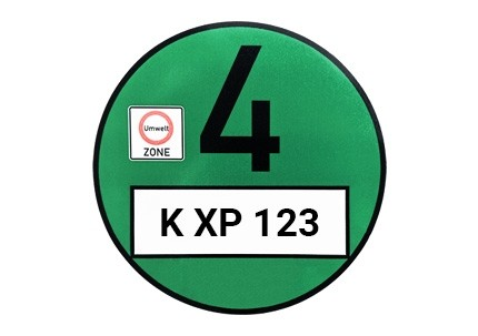 Grüne Umweltplakette / Feinstaubplakette (Euro 4)