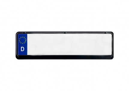 Kennzeichenhalter 460x110 mm Classic Schwarz