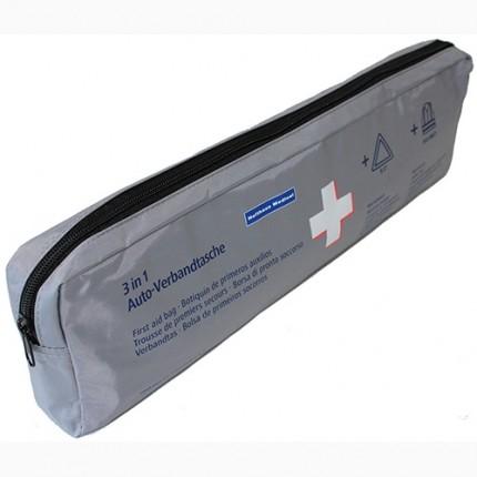 3-in-1 Erste Hilfe Versandtasche mit Warndreieck und Warnweste
