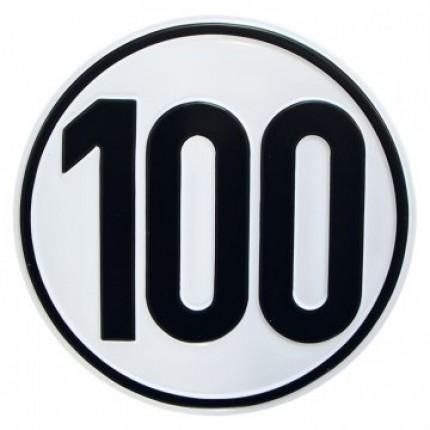 Alu Geschwindigkeitsschild 100 km/h