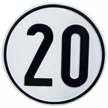 Alu Geschwindigkeitsschild 20 km/h