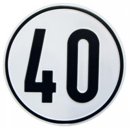 Alu Geschwindigkeitsschild 40 km/h