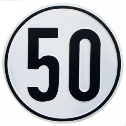 Alu Geschwindigkeitsschild 50 km/h