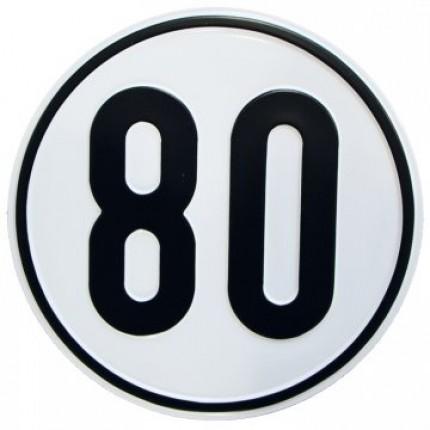 Alu Geschwindigkeitsschild 80 km/h
