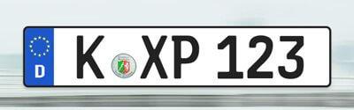 Kfz-Kennzeichen, Autokennzeichen